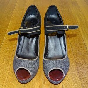 J Crew Shoes - J Crew Flannery Platform open toe heels shoes